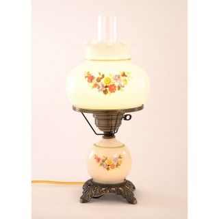 116 99 floral hurricane antique brass finish table lamp today $ 114 99