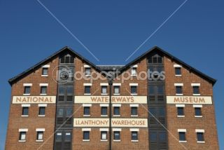 National waterways museum in Gloucester  Foto Stock © Luis Santos