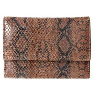 Brandio Womens Brown Snake Print Leather Wallet