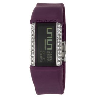 Philippe Starck Womens Steel Glitz Digital Chronograph Watch