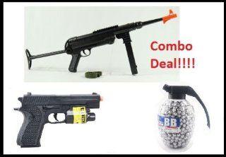 180 FPS Airsoft Pistol Flashlight, Laser + 800 Count Grenade BBs