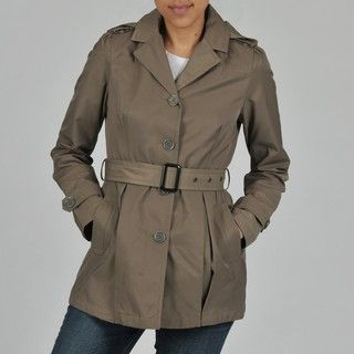 Buffalo Womens Single Breasted Belted Trench