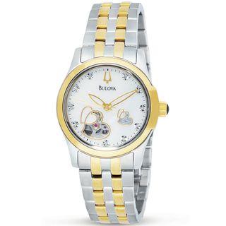 Bulova Womens BVA Series Heart Aperture Dial Stainless Steel Watch