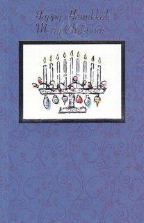 Greeting Card Christmas Happy Hanukkah, Merry Christmas