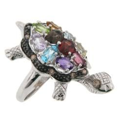 Meredith Leigh Silver Multi stone and 1/4ct TDW Diamond Critters