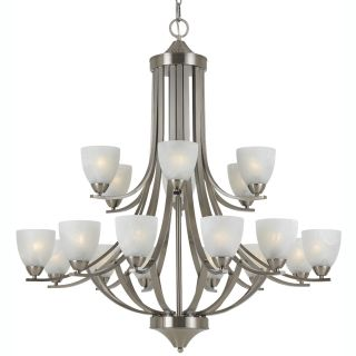 Transitional 18 light Satin Nickel Chandelier Today $898.20
