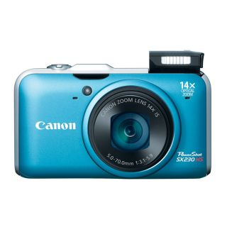Canon PowerShot SX 230 HS 12.1MP Blue Digital Camera
