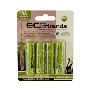 Ecotrends Eco friendly Rechargeable AA Batteries (Pack of 4) Today $7