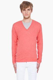 Dsquared2 Coral Red V neck Sweater for men