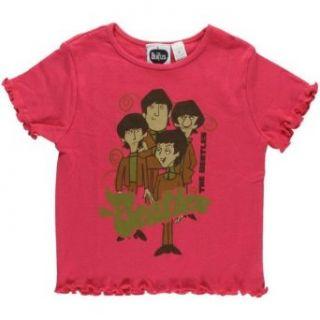 The Beatles   Pink Cartoon Toddler T Shirt Clothing