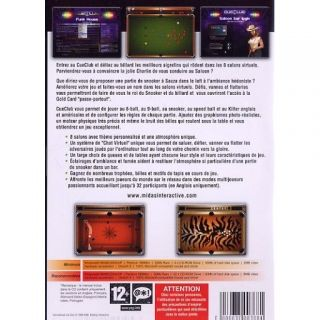 INTERNATIONAL CUE CLUB / PC CD ROM   Achat / Vente PC INTERNATIONAL