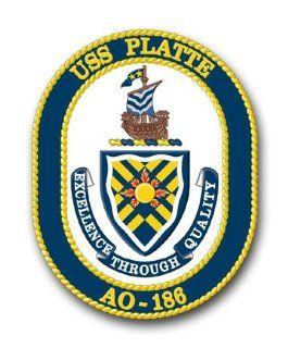 US Navy Ship USS Platte AO 186 Decal Sticker 3.8 6 Pack