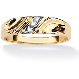 10k Two tone Gold Mens Diamond Accent Band