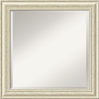 Country Whitewash Square Wall Mirror