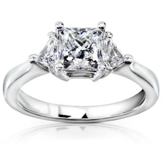 14k White Gold 1 5/8ct TDW Certified Diamond Engagement Ring (F G, SI3