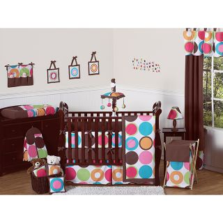 Sweet Jojo Designs Deco Dot 9 piece Crib Bedding Set Today $189.99 4