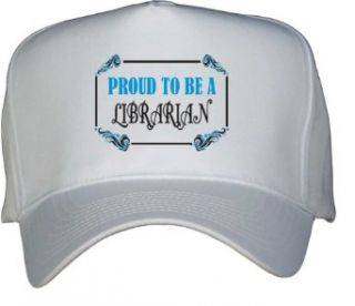 Proud To Be a Librarian White Hat / Baseball Cap Clothing