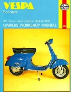 Vespa Scooters 90, 125, 150, 180 and 200Cc, Owners Workshop Manu