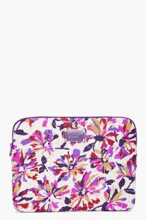 Marc By Marc Jacobs Purple Floral Print Laptop Case for women