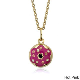 Little Miss Twin Stars 14k Goldplated Doughnut Necklace