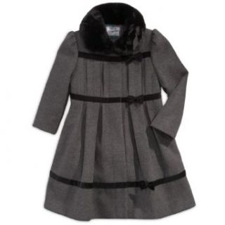 Rothschild Girls Faux Fur Trim Wool Look Dress Coat with