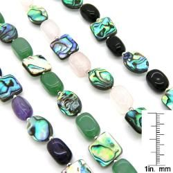Pearlz Ocean Sterling Silver Abalone Shell and Gemstone Bracelet