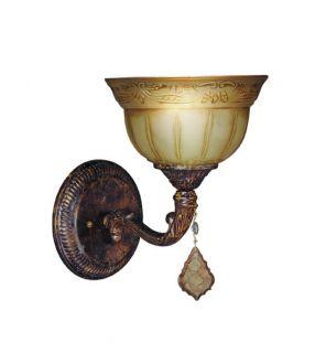 Woodbridge Lighting Lucerne 1 light Old World Bronze Bath Sconce