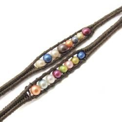 Colorful Parade Freshwater Pearls Five Wrap Bracelet (Thailand
