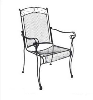 DC America WIC188 Charleston Wrought Iron High Back Chair