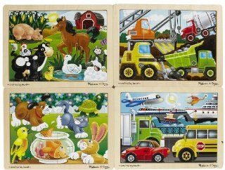 Melissa & Doug Deluxe 12 Piece Jigsaw Puzzle Bundle (Set
