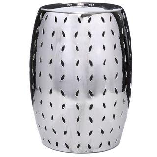 Silver Ceramic Stool (China)