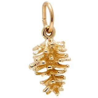 Rembrandt Charms Pine Cone Charm, 10K Yellow Gold Jewelry