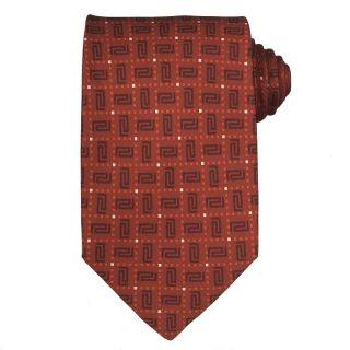 Versace Mens Geometric Greek Key Silk Tie