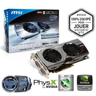 MSI GTX560 Ti Power Edition 1Go GDDR5   Achat / Vente CARTE GRAPHIQUE