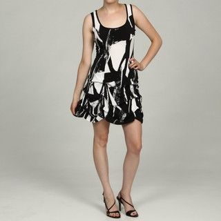 Tiana B Womens Printed Sleeveless Ruched Dress