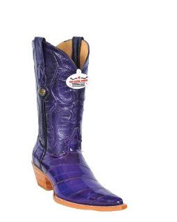Los Altos Ladies Purple Eel Cowgirl Boots: Shoes