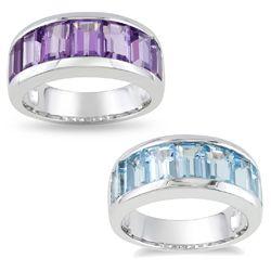 Miadora Sterling Silver Baguette cut Gemstone Cuff Earrings MSRP $179