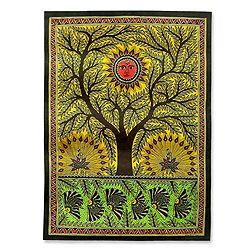 Tree of Life Folk Art Painting (India) Today $126.99