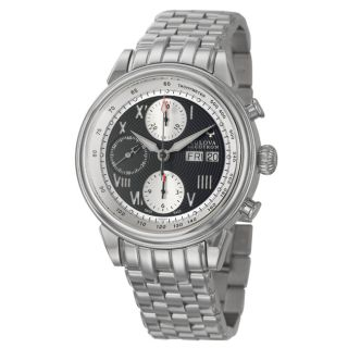 Bulova Accutron Mens Gemini Stainless Steel Swiss Automatic Watch