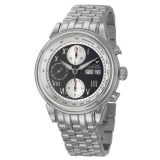 Bulova Accutron Mens Gemini Stainless Steel Swiss Automatic Watch