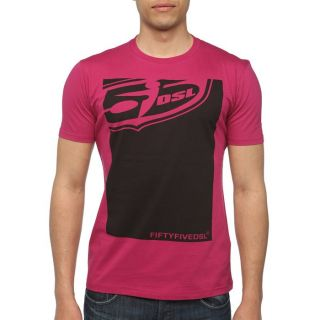 55DSL By DIESEL T Shirt Poster Homme Fuschia   Achat / Vente T SHIRT