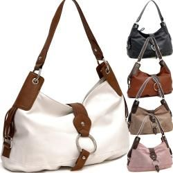 Two tone Ring Front Flap with Magnet Hobo