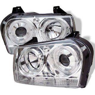Chrysler 300 05 06 07 Projector Halo Headlights with LED   Chrome
