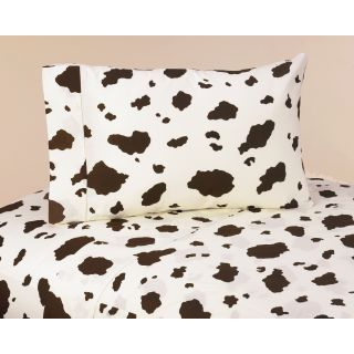 Sweet JoJo Designs Wild West Cowboy Bedding Collection Cow Print Sheet