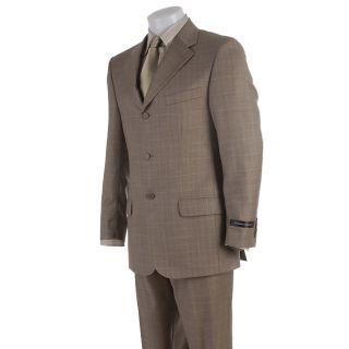 Stefano Genovese Mens Super 120 Tan Suit