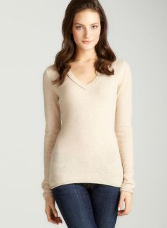 Evelyn Wheat Heather Jersey Vneck