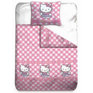HELLO KITTY Housse de Couette + Taie VICHY ROSE   Achat / Vente HOUSSE