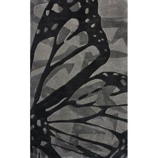 Handmade Luna Deco Butterfly Rug (76 x 96)