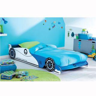 GRAND PRIX Lit bleu 90x190/200cm   Achat / Vente STRUCTURE DE LIT
