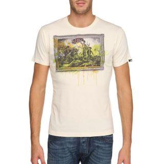 55DSL BY DIESEL T Shirt Revolution Homme Ecru   Achat / Vente T SHIRT
